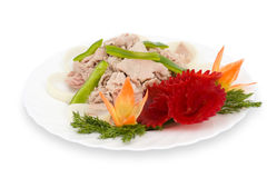 Chinese food. Boiled pork, clipping path. Stock Photo