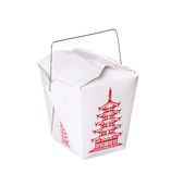 Chinese food box container isolated on white Royalty Free Stock Images