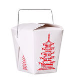 Chinese food box container on white Stock Photography