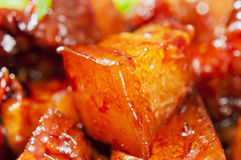 Chinese food--Braise in soy sauce meat Stock Photography