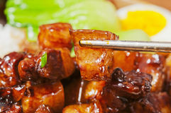 Chinese food--Braise in soy sauce meat Royalty Free Stock Photo