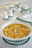 Chinese food, braised bean curd with prawn soup Royalty Free Stock Images