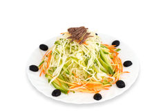 Chinese food. Cabbage salad, clipping path. Royalty Free Stock Images