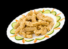 Chinese food. Calamari, clipping path. Royalty Free Stock Image