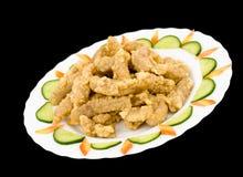 Chinese food. Calamari, clipping path. Royalty Free Stock Image