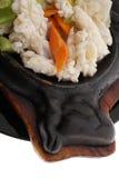 Chinese food. Calamari terrine with vegetables Royalty Free Stock Image
