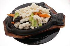 Chinese food. Calamari terrine with vegetables Stock Photos