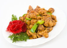Chinese food - caramelized pork Royalty Free Stock Image