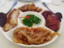 Chinese food char siew roast pork Royalty Free Stock Photography