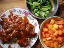 Chinese Food Chicken Banquet Stock Images