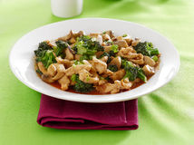 Chinese food - chicken and broccoli stir fry Stock Image
