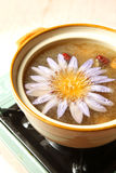 Chinese food, chicken soup stock photo