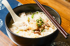 Chicken  Wonton noodles Royalty Free Stock Photography