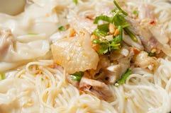 Chicken  Wonton noodles Stock Photos