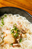 Chicken  Wonton noodles Royalty Free Stock Images