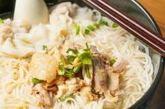 Chicken  Wonton noodles Royalty Free Stock Photos