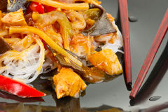 Chinese food close up Royalty Free Stock Photos