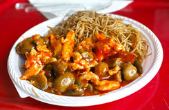 Chinese food closeup details Stock Photography