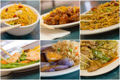 Chinese Food Collage Royalty Free Stock Photos