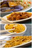 Chinese Food Collage Stock Photography