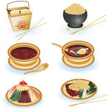 Chinese food collection royalty free illustration