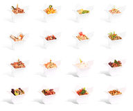 Chinese food in a container collection. Isolated on a white background stock photo