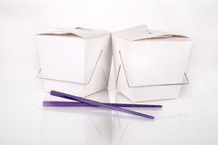 Chinese food containers Stock Photos