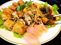 Chinese food. Cool appetizer. Chinese - Thai food Restaurant. royalty free stock images