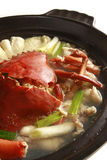 Chinese food, crab soup with seafood. A bowl of crab soup with seafood Stock Photography