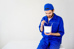 Chinese food delivery Stock Image