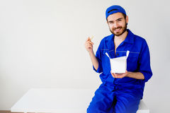 Chinese food delivery Royalty Free Stock Photography