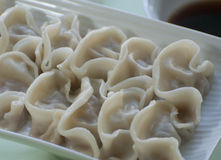 Chinese food a dish of dumplins. Chinese food--- a dish of dumplins Stock Photos