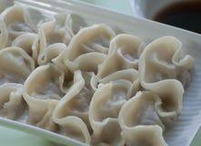 Chinese food a dish of dumplins Stock Photos