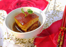Chinese food:Dongpo's braised pork. Well-known chinese food.rnThe dinner on New Year's Eve Stock Image