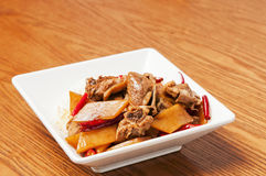 Chinese  food-Duck meat and tender ginger Royalty Free Stock Photography