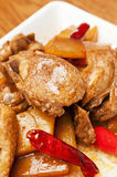 Chinese  food-Duck meat and tender ginger Royalty Free Stock Image