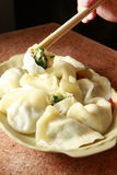 Chinese food, dumpling. On the dish Stock Image