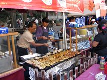 Chinese Food at the Festival Stock Photos