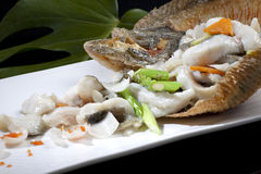 Chinese food - fish. Chinese cuisine - fish Wobble art stock photography