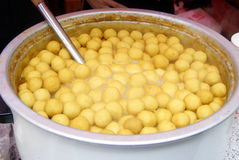 Chinese food: fish balls Stock Images