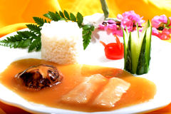 Chinese Food: Fish fillet with Rice Royalty Free Stock Photos