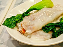 Chinese food, fresh spring roll Stock Photos