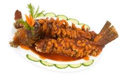Chinese food. Fried carp Stock Photo