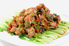 Chinese Food: Fried fish head Stock Image