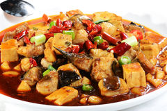 Chinese Food: Fried fish and Tofu Royalty Free Stock Photography