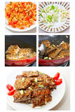 Chinese Food: Fried Hairtail Fish Stock Image