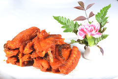 Chinese Food: Fried Hairtail Fish Royalty Free Stock Image