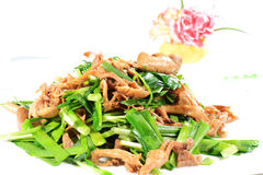 Chinese Food: Fried leek Stock Photography