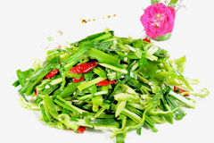 Chinese Food: Fried leek vegetable Royalty Free Stock Photo