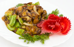 Chinese food. Fried pork with potatoes Stock Image
